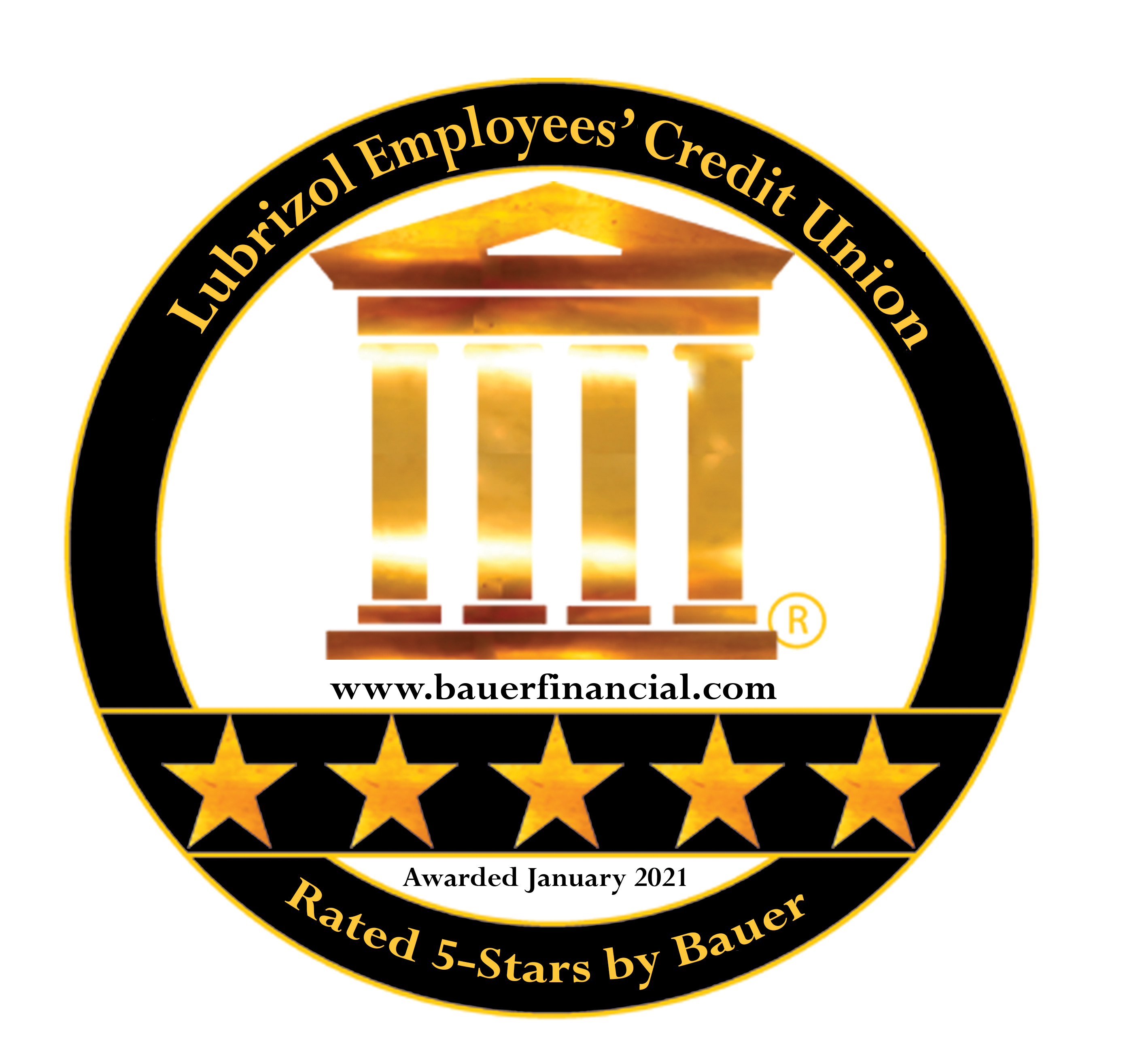 Bauer Financial 5 star rating awarded Jan 2021