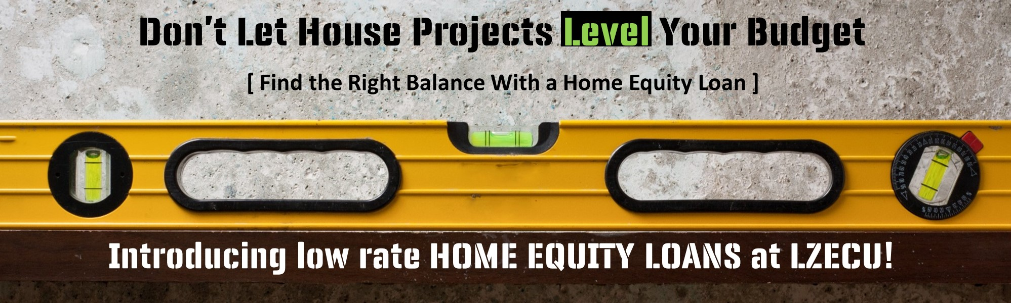 Home equity loans now here