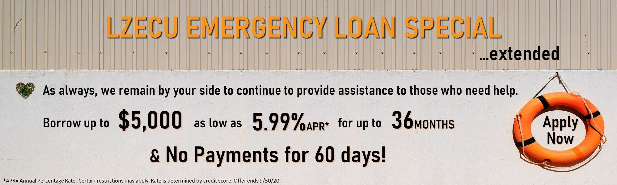 Emergency Loan. Borrow up to $5000 for a special rate. Click for more information.